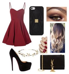 """""""Sin título #112"""" by erikabojorquez ❤ liked on Polyvore featuring Glamorous, Yves Saint Laurent, Cult Gaia and Hervé Léger"""