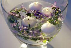 Floating candles in lavender water Lavender Decor, Lavender Garden, Lavender Blue, Lavender Fields, Lilac, Lavender Candles, Lavender Ideas, Lavender Cottage, Lavender Scent