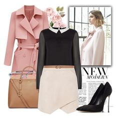 """""""Pink Trench Coat"""" by jessica-hearts ❤ liked on Polyvore featuring Nuevo, Westward Leaning, Tory Burch, Oasis, BCBGMAXAZRIA, Max Studio, Casadei, pastel and trenchcoat"""