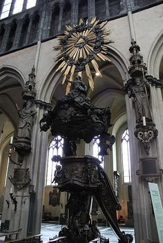 Church of Our Lady in Bruges-We went to Mass here and MK got to bring up the gifts.