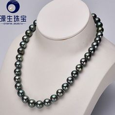 Aliexpress.com : Buy Yuansheng 10.0 11.8MM exquisite 17 inch gray South Sea pearl necklace with  S925 silver clasp from Reliable beaded silk chiffon dress suppliers on pearls by yuansheng
