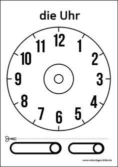 Uhr Vorlage zum Ausdrucken