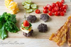Mini Bun-less Cheeseburger Bites with Thousand Island Dip Low Carb Keto, Low Carb Recipes, Cooking Recipes, Antipasto, Tapas, Mini Bun, Mini Burgers, Other Recipes, Finger Foods