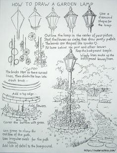 Drawing lessons - landscape motifs .. Discussion on LiveInternet - Russian Service Online Diaries