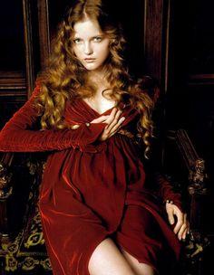 rich red velvet dress
