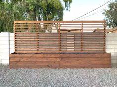 Privacy Planter, Outdoor Privacy, Backyard Privacy, Backyard Patio, Backyard Landscaping, Planting For Privacy, Privacy Trellis, Patio Design, Garden Design