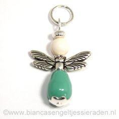 Hangertje Engeltje Vlinder Libelle Crystal Jade Pear Ivory www.biancasengeltjessieraden.nl