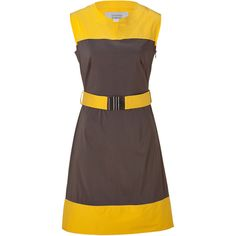 STEFFEN SCHRAUT Coffee/Sun Claudine Patch Dress ($335) ❤ liked on Polyvore