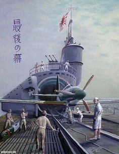 Submarino Japones, avión   embarcado.