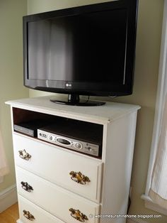 refinish Dresser into TV stand. Need to do this for Jo's room