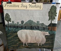 hand hooked rug...I love this one!
