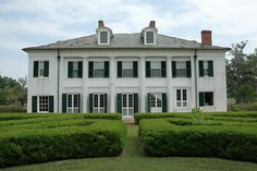 The Evergreen Plantation House was built circa 1790 and remodeled to the Classical Revival style that can be seen today in 1830. Evergreen is one of the most complete plantation complexes surviving today with almost all of the original buildings intact including the 22 original slave quarters. Evergreen is privately owned and is still a working sugar plantation. Evergreen is like stepping back in time.