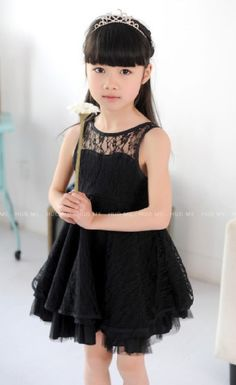 Little princess dress for your baby girl in the beautiful black color