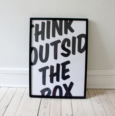 Think outside the box - future office art?
