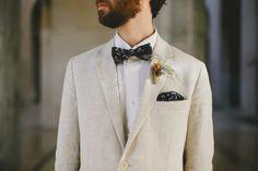 unconventional groom. unconventional groom. unconventional groom. suit men grooms floral jacket. linen suit. floral bowtie. sable.