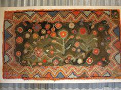 Art Spirit: Hooked rugs at Just Folk, marystanley.blogspot.com