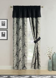 Drapes for Bedroom Windows Luxury Howplumb Window Curtains Black Gray Paris Eiffel tower French Script Valance Panel Pair Drapes 84 In Paris Bedding, Paris Bedroom, Window Curtains, Bedroom Curtains, Bedroom Windows, House Windows, Modern Window Coverings, Insulated Drapes, Interiors