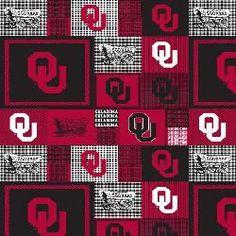 Collegiate Fleece Throw University of Oklahoma Allover Black/Red