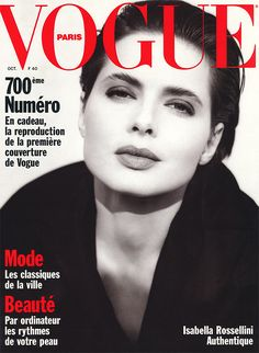 Isabella Rossellini by Brigitte Lacombe Vogue Paris October 1989