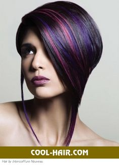 hey Lauren... can we do this cut when it grows out but in red? edgy purple cool hair - Bing Images
