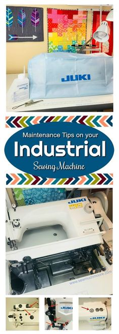 When you sit down to either start or continue a sewing project, you don't want mechanical problems. Many times, mechanical problems can be avoided when you practice preventative maintenance on your Industrial Sewing Machine. Let me show you a few Sewing Machine Projects, Easy Sewing Projects, Sewing Projects For Beginners, Sewing Hacks, Sewing Machines, Sewing Ideas, Juki, Leftover Fabric, Sewing Tools
