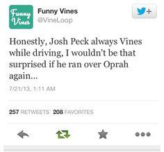 Josh Peck and his vines