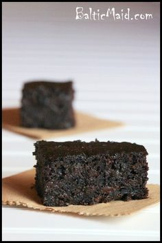 Healthy Zucchini Brownies - whole wheat flour is used; the oil is substituted with applesauce; lots of cocoa powder is added for some healthy antioxidants; and two cups of shredded zucchini…and the best of it all, they taste absolutely incredible. These brownies are super moist and rich in chocolate