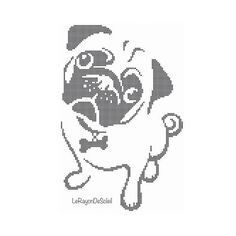 Pug cross stitch pattern french bulldog pattern dog