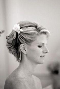 Short Wedding Haircuts - Romantic Wedding Updo for Short Hair