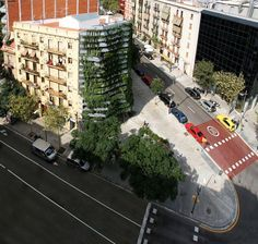 """""""vegitecture""""  barcelona's tallest residential vertical garden"""