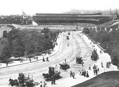#TBT to Forbes Field's inaugural week in summer 1909. This photo was taken on July 5, a day that featured a double header against the Cincinnati Reds and ended in two Pirates victories. Later this same year, the Pirates would go on to win the World Series against the Detroit Tigers.