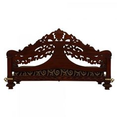 Wooden Seater with Delecated Look and Most Economical In Walnut Finish - - Seater Temple Design For Home, Walnut Finish, Outdoor Furniture, Outdoor Decor, Handicraft, Wood Art, Art Work, House Design, 3d