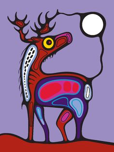 Could be a cool art lesson using a colouring page animal template and have students create designs and shapes within. Inuit Kunst, Inuit Art, Kunst Der Aborigines, Aboriginal Artwork, Woodland Art, Native American Artists, Wow Art, American Indian Art, Arte Popular