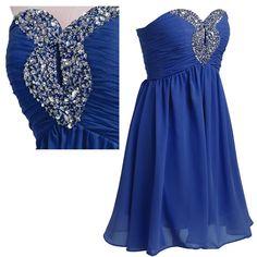 Tidetell.com Fashion Plaza Strapless Graduation Cocktail Party Dress  Prom dress Evening Dress Homecoming Dress #prom #homecoming