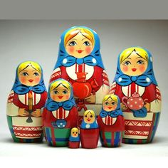 Samovar Nesting Dolls, Babouska dolls love these starting a small collection !!!