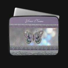 Surrealistic Lavender Metallic Patchwork Butterfly for your Macbook.  http://www.zazzle.com/lavender_metallic_glitter_butterfly_laptop_sleeve-124746421833181268?gl=UROCKDezineZone=238724183765874893  $31.75