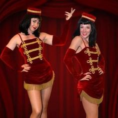 usherette costumes would be different colour and themed but basically this.