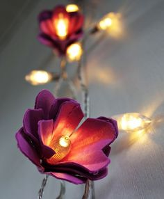 egg carton flowers for DIY lights! - I think this is cute and might go well with the mirror things Crista can get from Michaels @Kelli Hamilton