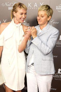 25 Photos of Ellen DeGeneres and Portia de Rossi Being Freaking Adorable…
