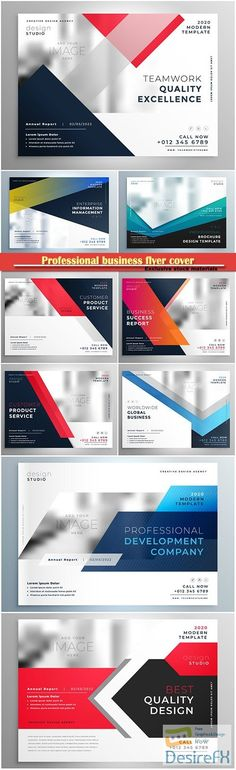 Professional business flyer cover vector template