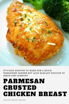 More options for delicious, quick and easy weeknight dinners – right! This Parmesan Cr. Parmesan Crusted Chicken, Chicken Parmesan Recipes, Garlic Parmesan, Keto Chicken, Baked Chicken Breastrecipes, Chicken Meals, Crockpot, Breast Recipe, Pasta