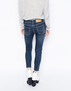 Cheap Monday Prime Mid Waist Cropped Skinny Jeans