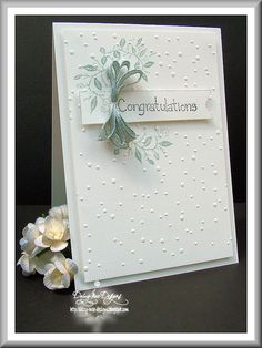 """Love this mix of embossing and """"stuck on"""" stuff"""