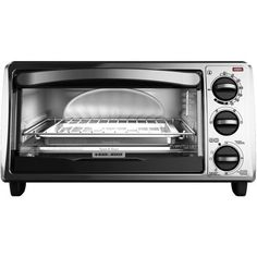 Black & Decker Extra Wide 8-Slice Toaster Oven, Stainless Steel - Walmart.com