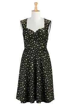 I <3 this Polka dot pleated bodice dress from eShakti