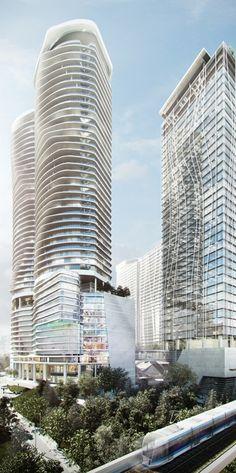 KL Gateway Premium Residences, Kuala Lumpur, Malaysia by 10 Design Architects :: 46 floors