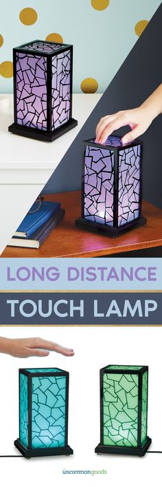 $150 for set - Light up a loved one's life—across town or across the country—with these in-sync lamps.