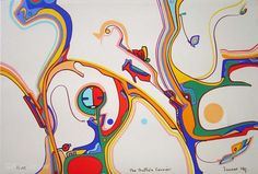The Buffalo Carrier by Alex Janvier - I just discovered and love his art. // http://www.alexjanvier.com/gallerylimited.html