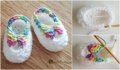Quick and easy baby booties will be a nice project in between other more time consuming projects. It works up so fast that it will be a perfect last-minute gift for any baby shower. This pattern is so easy that it will also be an excellent start for beginners. Additionally it's great project for us
