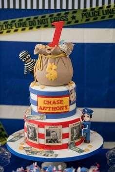Chase's Cops and Robbers Themed Party – Cake